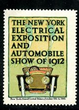 USA Automobile 1912 Poster Stamp Electricity & Auto Show NY MNH