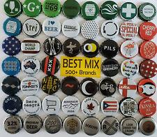 500 Mixed Beer Bottle Caps 500+ Brands BEST MIX GUARANTEE Zero Defects