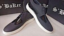 S' BAKER men's light leather brogue platform shoes size 43*