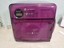Vintage early 2000's Sharp Carousel Half Pint Microwave Dorm Room Size. Purple.