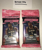 Two NBA 2019-20 Panini Mosaic Lot x (2) Pink Camo Cello Pack NEW FACTORY SEALED