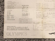 Original Gottlieb Olympics Em Pinball Machine Manual Schematics Free Ship