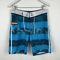 Quiksilver Mens Board Shorts Size 30 Swim Shorts Blue Good Condition