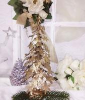 Clayre & Eef Weihnachtsbaum Metall Gold Tanne Baum 30 cm Shabby Chic Vintage