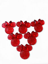 6PCS red coLOR Minnie's BOW Flat Back Resin Scrapbooking For phone/Craft@