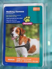 Dog Walking Harness by TOP PAW - Medium - Padded side panels - Black mesh
