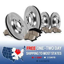 Front and Rear Rotors & Ceramic Pads 2002 2003 2004 2005 DODGE RAM 1500 2WD 4WD