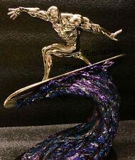 Contracción Modelo 1/10 Silver Surfer Resina Estatua Figura de héroe electroplatin
