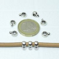 115 Enganches Para Colgantes 8x6mm  T51A  Plata Tibetana Pendant Beads Charms