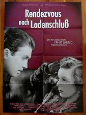 Kinoplakat RENDEZVOUZ NACH LADENSCHLUSS Ernst Lubitsch James Stewart