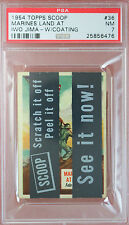 RARE 1954 TOPPS SCOOP w/coating MARINES LAND AT IWO JIMA #36 PSA 7 highest grade