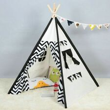 Kids Teepee Indoor Play tent - Large 100% Cotton Canvas Indian Tipi Playhouse
