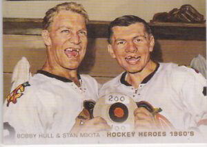 11-12 Upper Deck Bobby Hull Stan Mikita Hockey Heroes 1960s SP Blackhawks 2011