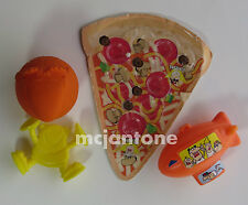 LOOSE LOT 4 Little Caesars Pizza 1990s BLIMP BALL BEAD GAME THROWING SPINNER Toy