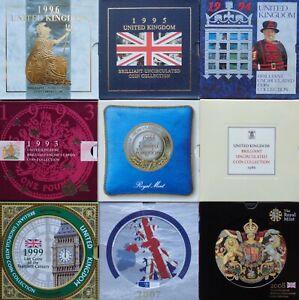 1982-2021 Royal Mint Brilliant Uncirculated BU BUNC Coin Annual Year Set