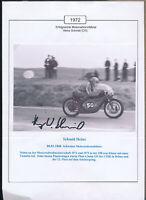 565283 / Motorrad Beleg Autogramm Heinz Schmid