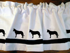 Beauceron  Dog Window Valance Curtain ..Your Choice of Colors*