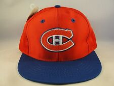 Kids Youth Size NHL Montreal Canadiens Vintage Snapback Hat Cap Red Blue