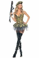 Be Wicked 3pc Commando Camo Bustier Military Soldier Women's S/M