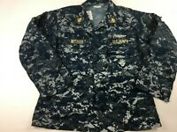 U.S. NAVY WORKING BLUE DIGITAL CAMO BLOUSE SIZE MEDIUM SHORT