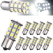 10 x White 1156 BA15S 5050 27SMD RV Camper Trailer LED Interior Light Bulbs New