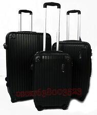 e20206e84 SET DE 3 MALETAS DE VIAJE ABS RIGIDAS DE 4 RUEDAS VARIOS COLORES(ref-