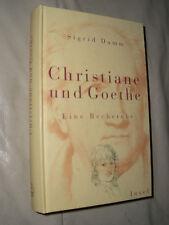 Sigrid Damm: Christiane und Goethe (Gebundene Ausgabe)