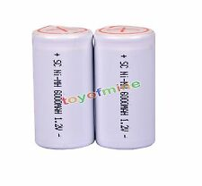 2pcs Sub C Sub C Ni-MH Rechargeable Battery 6000mAh 1.2V With Tab White