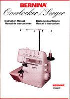 Bernina 1300DC Serger Manual in PDF format on CD