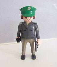 PLAYMOBIL (K2126) POLICE - Homme Officier Tenue Grise Commissariat 3954 3160