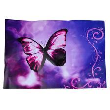 Purple Butterfly Flower Swirl Decorative Sticker Decal for 14 Laptop PC U5M 13HE