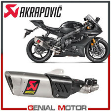 Exhaust Titanium Approved Muffler Akrapovic for Yamaha YZF-R 6 2017 > 2019