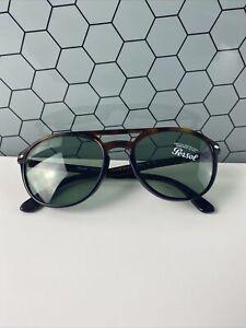 NWOB Persol 0PO3170S Mens Aviator Sunglasses Tortoise Brown Black/Green