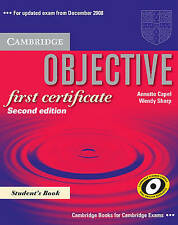 Objective First Certificate Student's Book, Capel, Annette & Sharp, Wendy, Used;