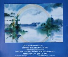 WindStar Colorado Foundation John Denver Shapiro Water Colour Poster 1991 Vntge