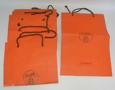 "Authentic HERMES sac cadeau transporteurs x 7 - 16"" Haut X 11"" de large x 4"" Deep Good Cond"