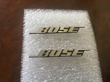 TWO Bose Aluminium Car Door Speaker Logos Emblems Badge Decals w/Pin USA Seller
