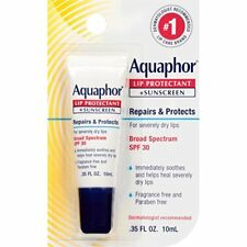 Aquaphor Lip Protectant + Sunscreen, SPF 30, 0.35 oz (6 Pack)