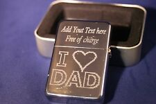 Personalised Free No.1 Dad  LOVE Lighter Father`s Day Birthday gift FREE POSTAGE