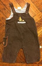 Disney Classic Pooh Collection Brown & Orange Overalls 3 Months A Perfect Pick