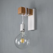 lampada parete applique da muro legno e metallo design moderno industriale E27