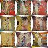 "18"" Oil Painting Cotton Linen Cushion Cover Wasit Home Decor Pillow Case"