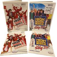 High School Musical 3 Senior Year & Sing it! Nintendo Wii Game
