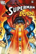 SUPERMAN #218 ~ HEAT VISION BURN! ~ 24x36 COMIC COVER ART POSTER NEW/ROLLED!
