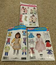 "Simplicity Doll Clothes Sewing Pattern Lot (Size 18"" Dolls)"