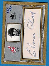 2001 SP Legendary Cuts Autographs #CEF Elmer Flick #09/22 Cleveland Indians AU