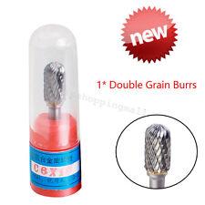 "Cylindrical Cut Tungsten Carbide Burrs Cutting Tool Die Grinder Bit 1/4"" Dentist"