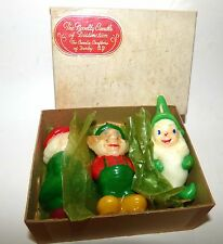 Vintage Gurley Christmas Candles Elf Elves Gnomes 1950's NOS