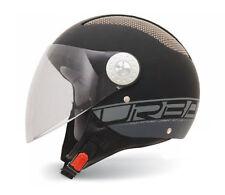 Jethelm Helm MT Helmets Urban II, XS, Schwarz Matt, langes Visier