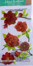 JOLEE'S BOUTIQUE LE GRANDE COLORFUL ROSES Red Vellum Scrapbook Craft Sticker
